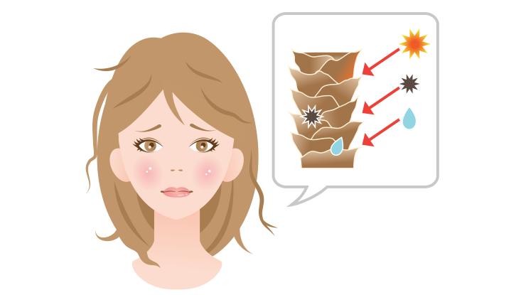 紫外線による髪へのダメージ